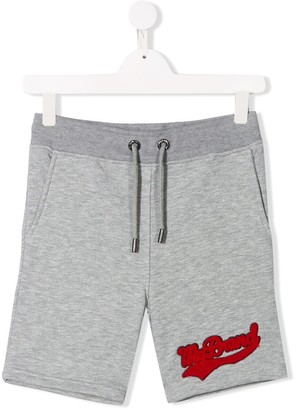 TEEN logo patch track shorts