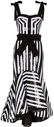 Silvia Tcherassi Gerda bow-embellished sequinned fishtail dress
