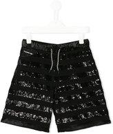 Diesel sequin embellished shorts - kids - Cotton/Polyester/Spandex/Elastane - 10 yrs