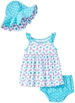 Gerber 3 Piece Dress Set (Baby) - Flower - 6-9 Months