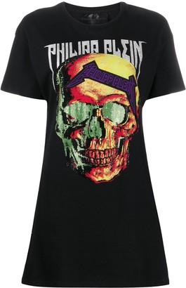 Philipp Plein embellished skull dress