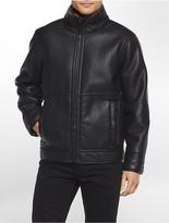 Calvin Klein Faux Pebble Leather Jacket