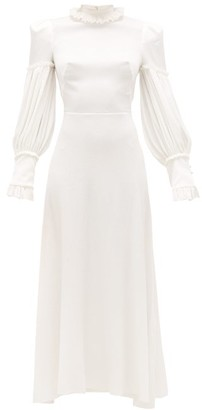 The Vampire's Wife The Dahlia Hammered Silk-blend Dress - White
