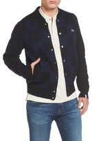 Lacoste Men's Double Face Check Sweater Jacket