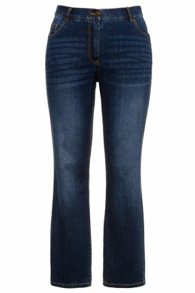 Ulla Popken Women's Viglamy L/s Rollneck T-Shirt/tb/des Straight Jeans
