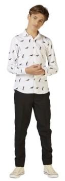 OppoSuits Big Boys Penguins Christmas Shirt