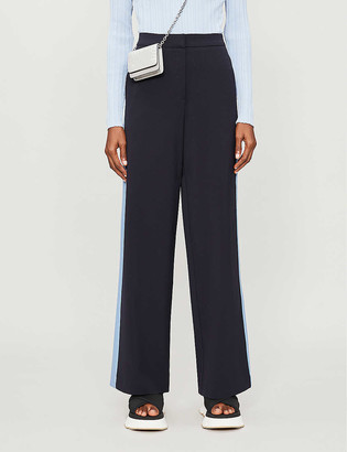 Chinti and Parker Side-panel high-rise stretch-woven trousers