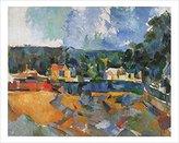 Cezanne 1art1 Posters: Paul Poster Art Print - Uferlandschaft (28 x 22 inches)