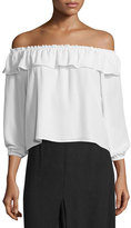 Apiece Apart Totto Off-The-Shoulder Ruffle Top
