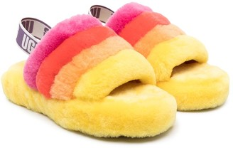 Ugg Kids Fluff Yeah shearling sandals