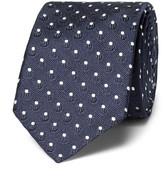 Dolce & Gabbana 6cm Polka-dot Silk-jacquard Tie - Blue