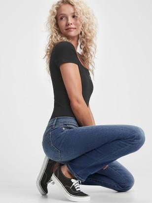 Gap Mid Rise Straight Leg Jeans