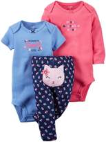 Carter's Baby Girls' 3 Pc Back Art 126g366