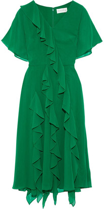 Mikael Aghal Ruffled Georgette Dress