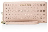 MICHAEL Michael Kors Jet Set Travel Floral Perforated Continental Wallet