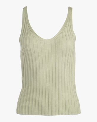 Naadam Ribbed V Neck Tank