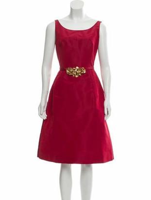 Oscar de la Renta 2017 Silk Evening Dress Red