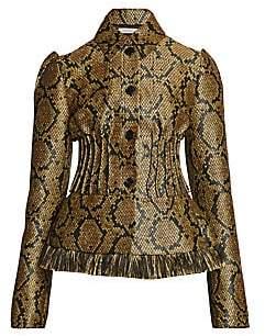 Nina Ricci Women's Collarless Peplum Jacket