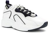 Acne Studios Rockaway Leather Sneakers in Multi White | FWRD