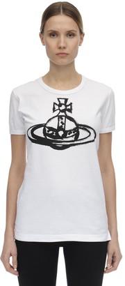 Vivienne Westwood Globe Print Cotton Jersey T-shirt