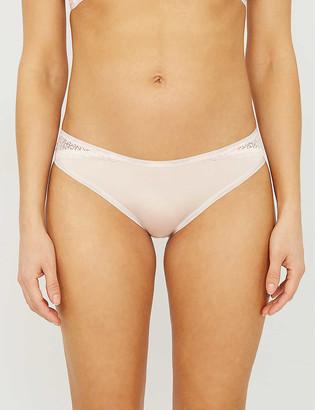 Calvin Klein Flirty cotton-jersey briefs