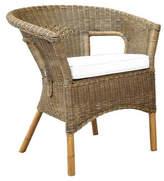 Billy Natural Rattan Tub Chair & Cushion
