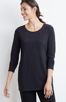 J. Jill Pure Jill Long-Sleeve Stretch Cotton Tee