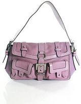 Luella Purple Leather Multi Pocket Small Shoulder Handbag LL19LL