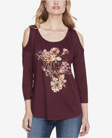 Jessica Simpson Cold-Shoulder Graphic Top