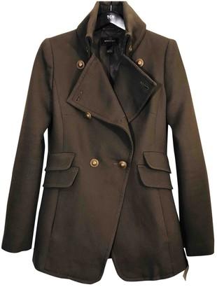 MANGO Khaki Cotton Coat for Women