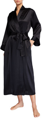 Neiman Marcus Long Silk Robe