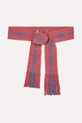 Pippa Holt Fringed Cotton-jacquard Waist Belt
