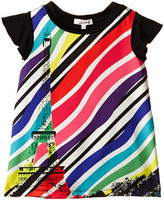 Junior Gaultier Sabha Striped Neon Dress (Toddler/Little Kid)