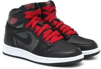 Nike Kids Air Jordan 1 leather sneakers