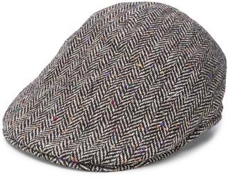 Tagliatore Herringbone-Pattern Flat Cap