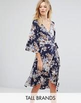 Vero Moda Tall Floral Wrap Dress