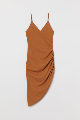 H&M Draped Jersey Dress - Beige