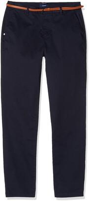 Scotch & Soda Maison Women's AMS Blauw Slim Fit Chino in Stretch Twill with Belt Trouser