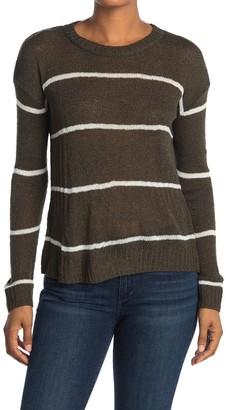 Bobeau Striped Dolman Sweater