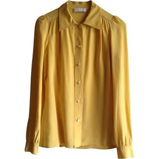Prada Yellow Silk Top for Women Vintage