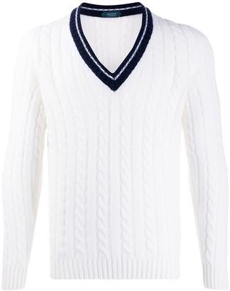 Zanone cable knit jumper