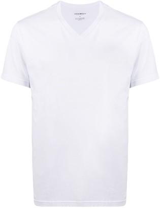 Emporio Armani V-neck cotton T-shirt