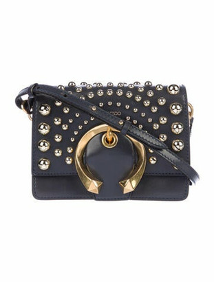 Jimmy Choo Studded Madeline Crossbody Bag Blue