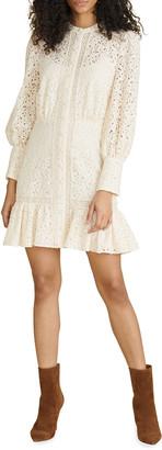 Veronica Beard Hilda Lace Long-Sleeve Dress