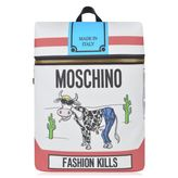 Moschino Fashion Kills Cow Backpack