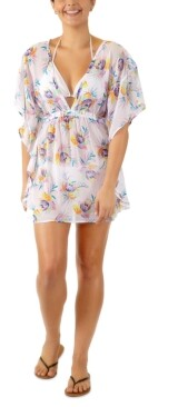 Miken Juniors' Tropical-Print Caftan Cover-Up, Created for Macy's Women's Swimsuit