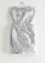 Thumbnail for your product : And other stories Draped Strapless Jacquard Mini Dress
