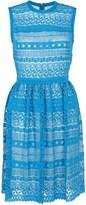 Yigal Azrouel Aqua Lace Venice Dress
