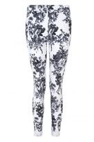 Select Fashion Fashion Womens Grey Mono Floral Print Jegging - size 10