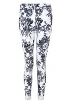 Select Fashion Fashion Womens Grey Mono Floral Print Jegging - size 6